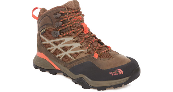 The North Face Hedgehog Hike Mid GTX Shoes Women morel brown/radiant orange